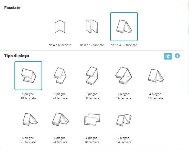 L'interfaccia per creare un depliant online su Pixartprinting