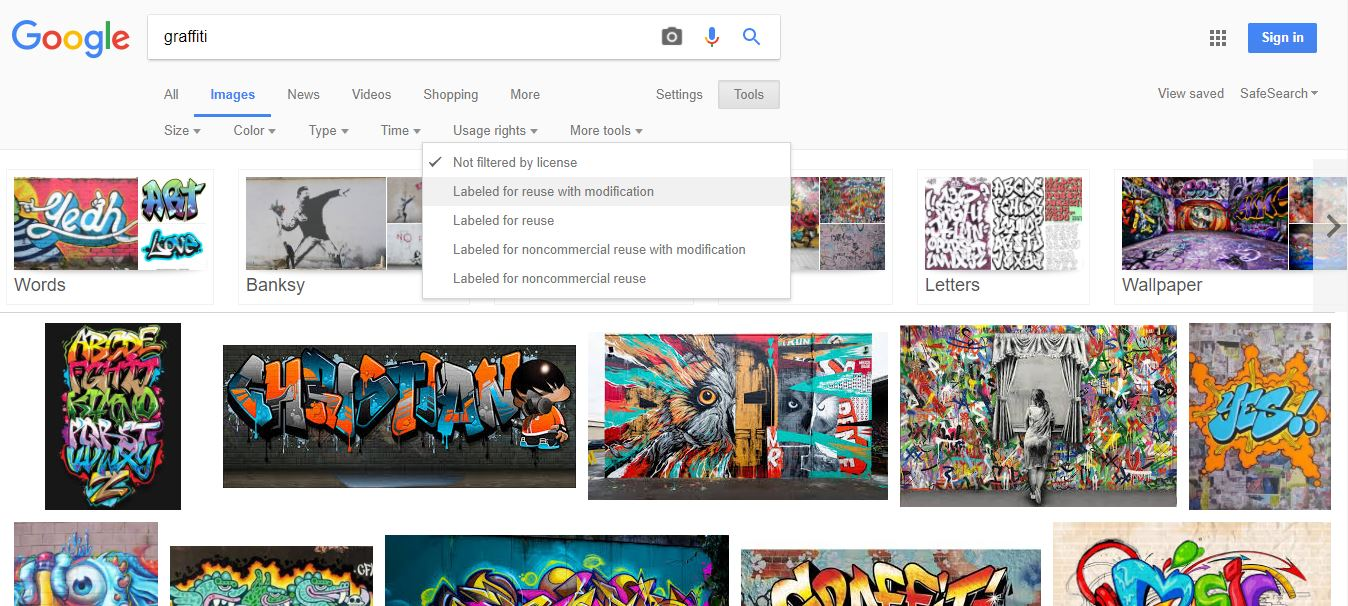 Maschera di ricerca di free foto su Google