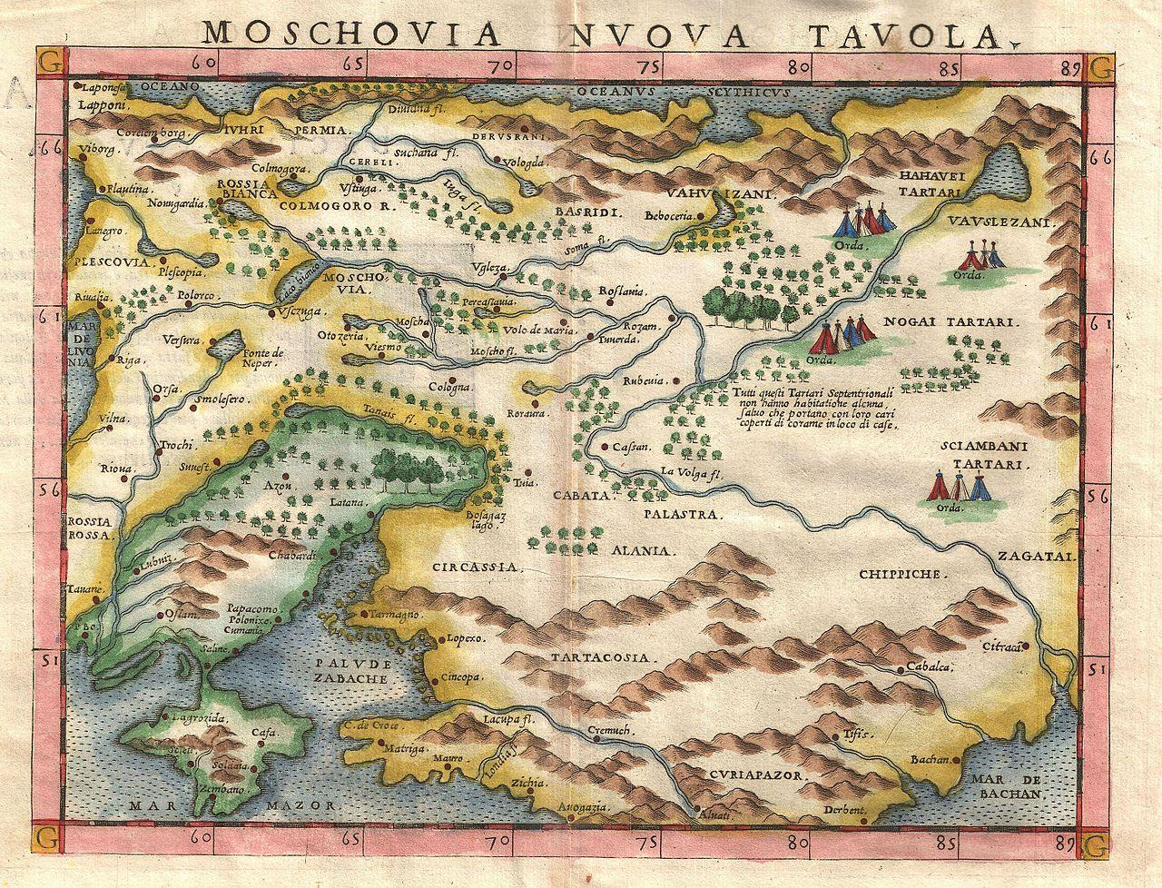 Un'antica mappa in una free foto trovata sul sito per immagini gratis Geographicus
