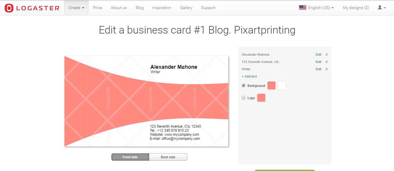"""How to make business cards: Logaster"""