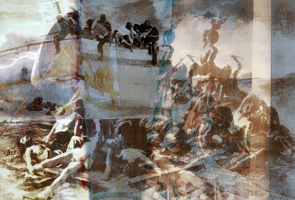 Zattera della Medusa', Gianluigi Colin