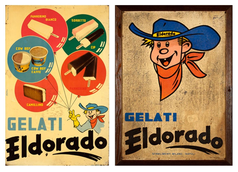 Spot pubblicitari e cartelli gelati anni