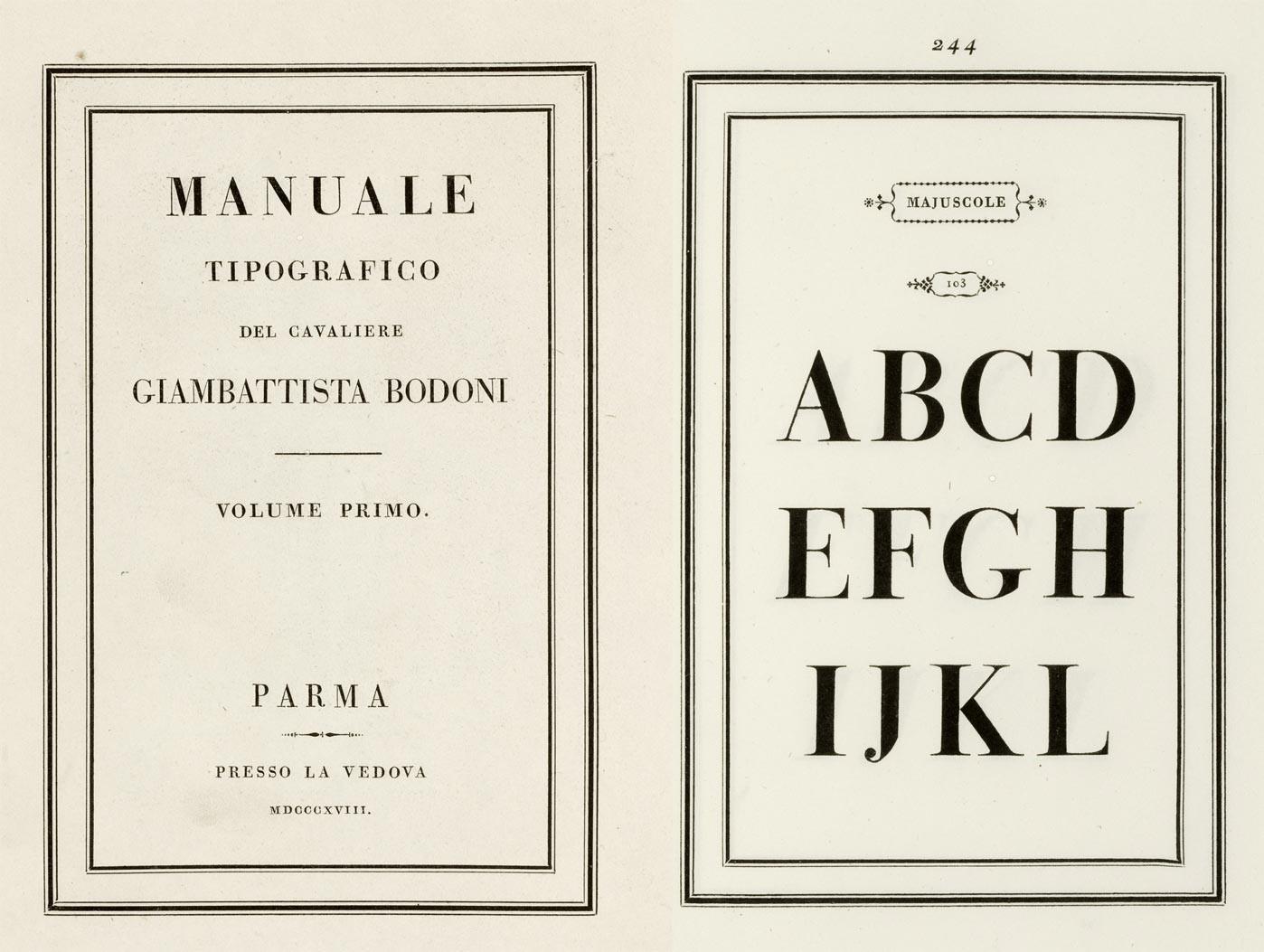 El Manual tipográfico de Giambattista Bodoni (imagen: dominio público)