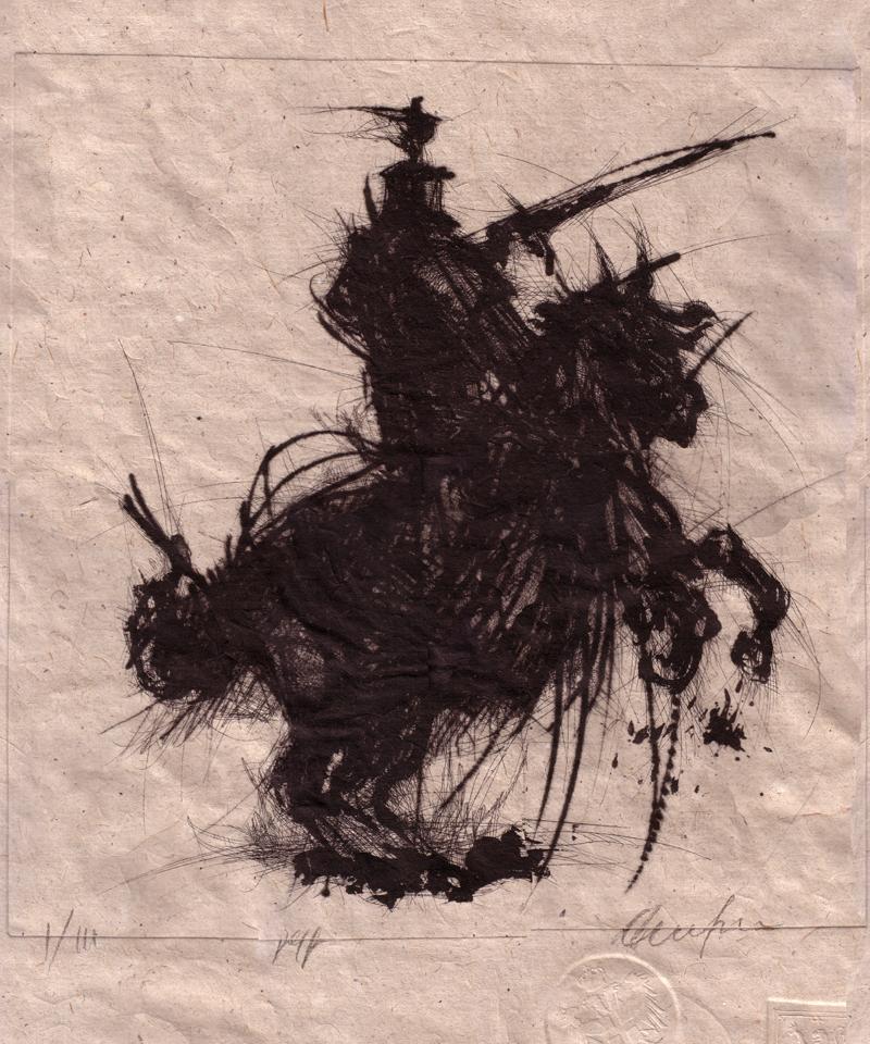 """Das Werk """"Cavaliere Rampante"""" von Andrea De Simeis"""