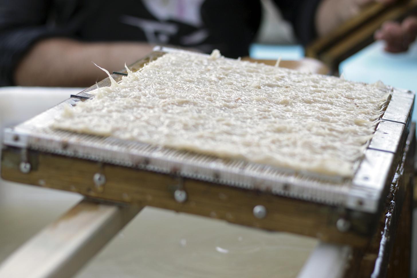 Foglio di carta fatta a mano