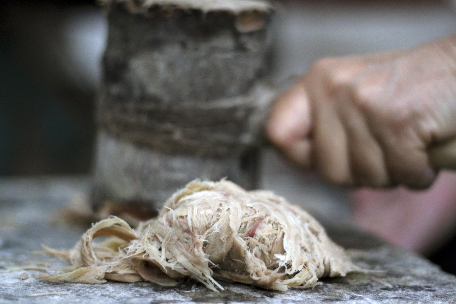 Processus de battage de la fibre de cellulose