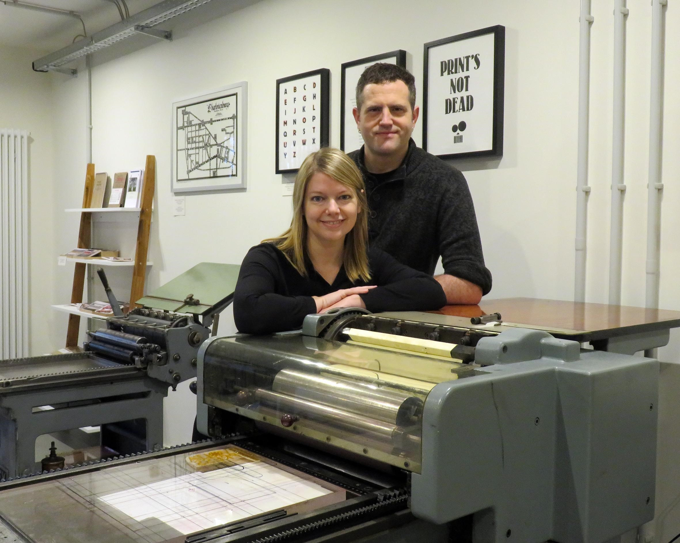 Laureen and John from Volta Press in Berlin