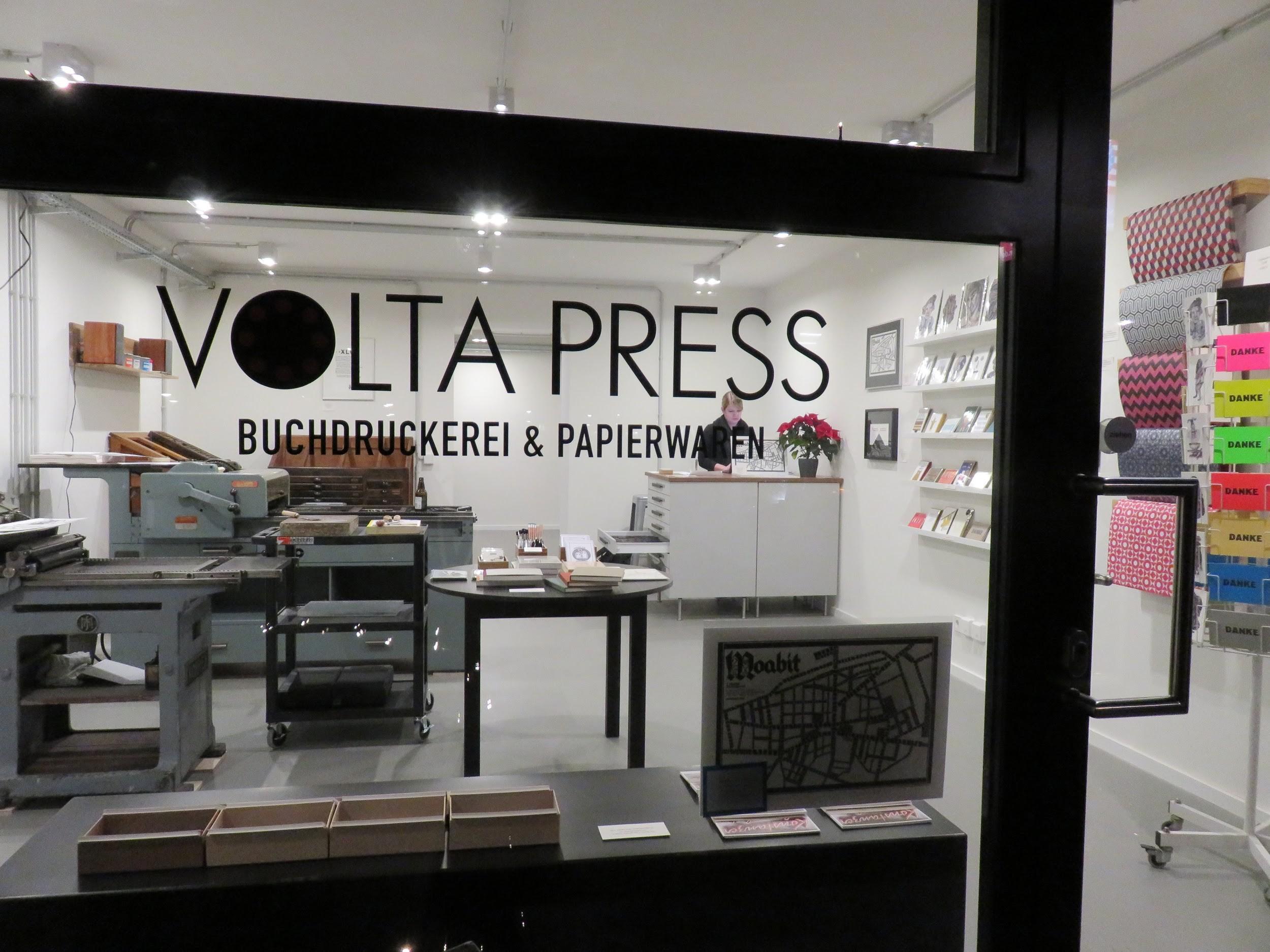 Das Druckstudio funktioniert auch als Laden und Workshop-Raum