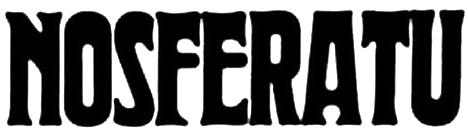 Nosferatu (1922) horror font