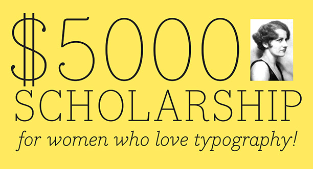 Image : TDC Beatrice Warde Scholarship. Crédit : Type Directors Club