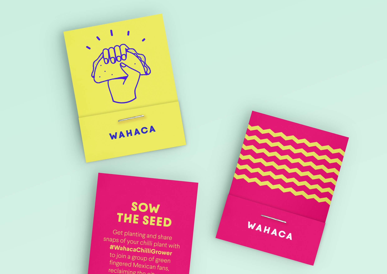 Immagini tratte dalla brand identity aziendale di Wahaca. Tutti i diritti sono esclusiva proprietà di Wahaca.