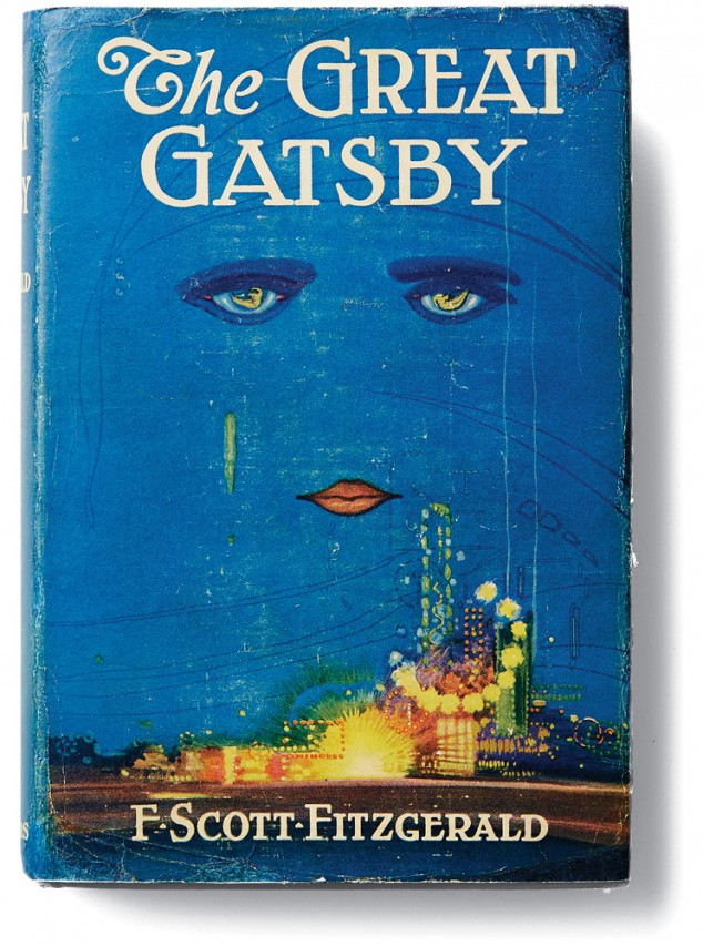 La cubierta del libro «The Great Gatsby»