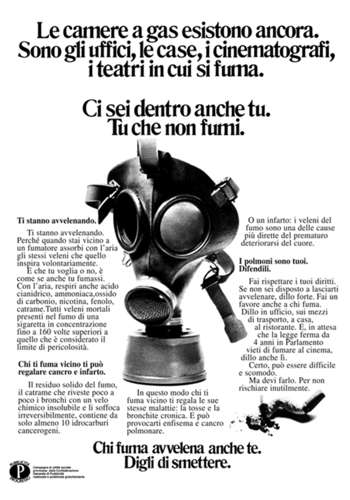 Anti-smoking campaign poster