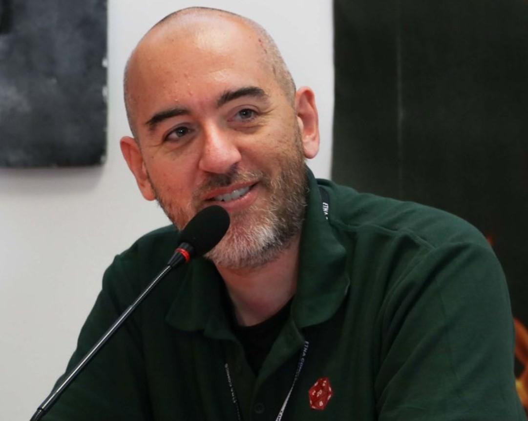 L'autore di libirigame Mauro Longo all'Etnacomics 2019