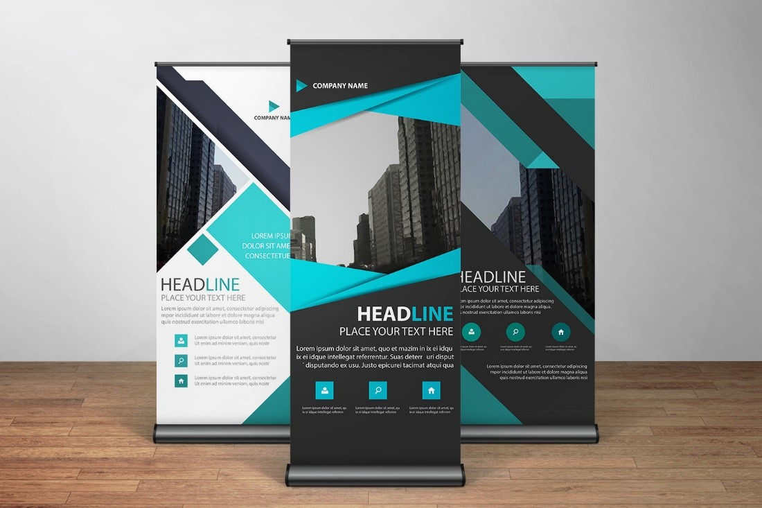 Example of a roller banner and how to create the artwork