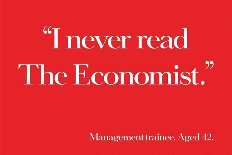 The Economist works by subtracting with a clear, ironic message that leaves no escape