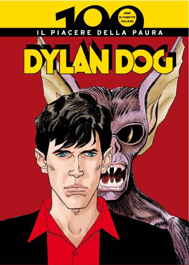 The cover of Dylan Dog. Comics published in Italy by Panini.