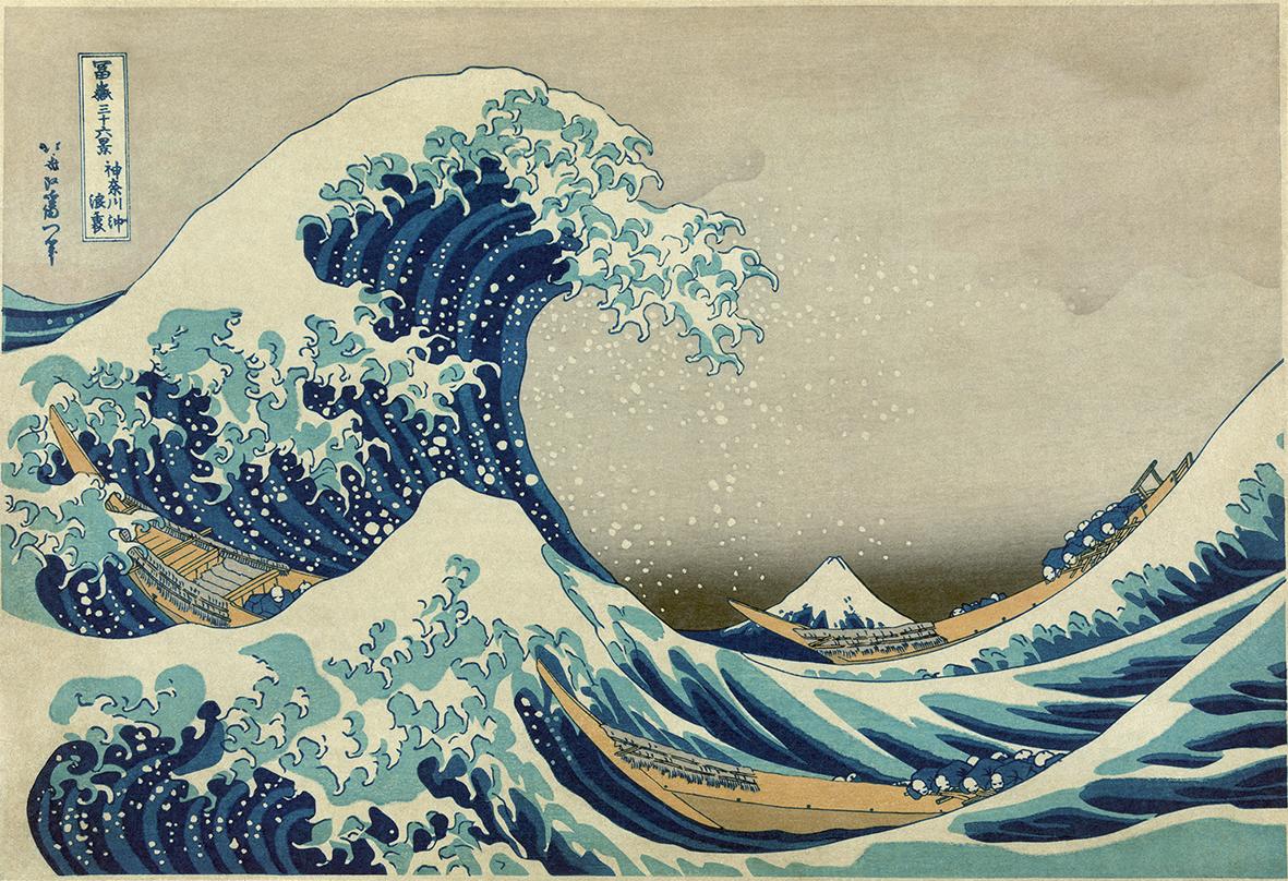 Katsushika Hokusai, La grande onda di Kanagawa, 1830-1831.