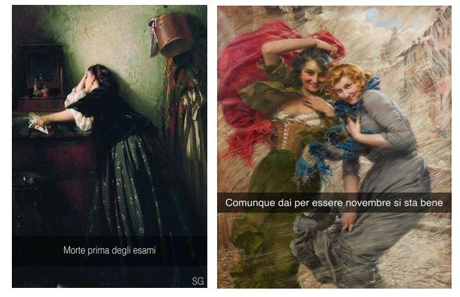 """Immagine tratta dalla pagina Facebook """"Se i quadri potessero parlare"""""""