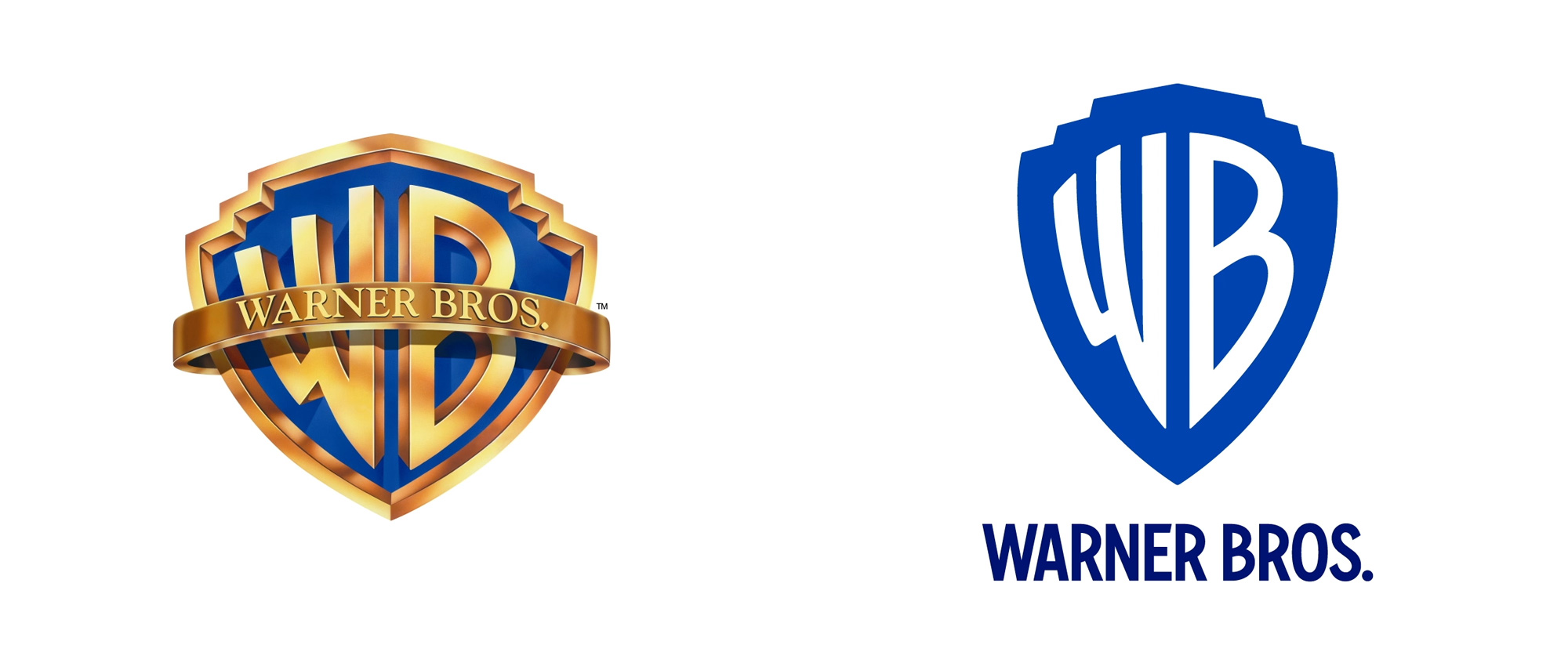 Logo before and after. Credit: Warner Bros.