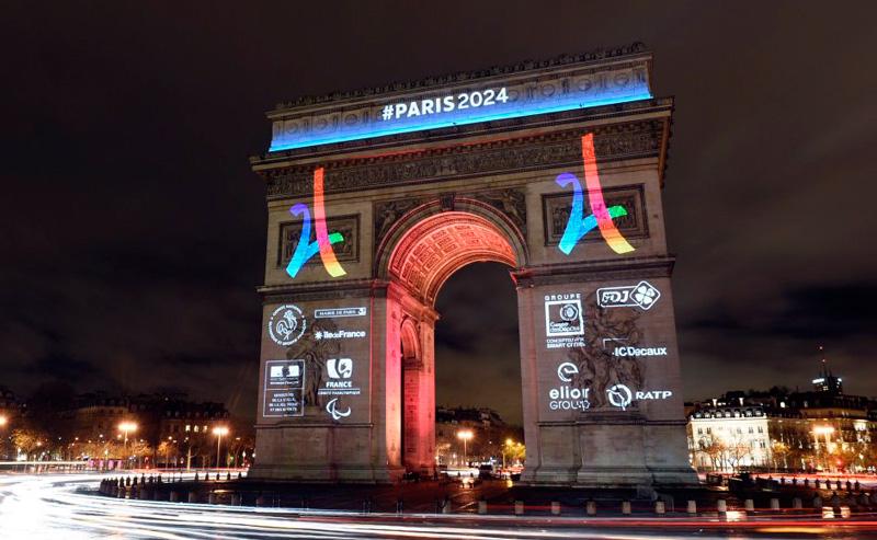Arc de Triomphe candidacy logo. Credit: Paris 2024