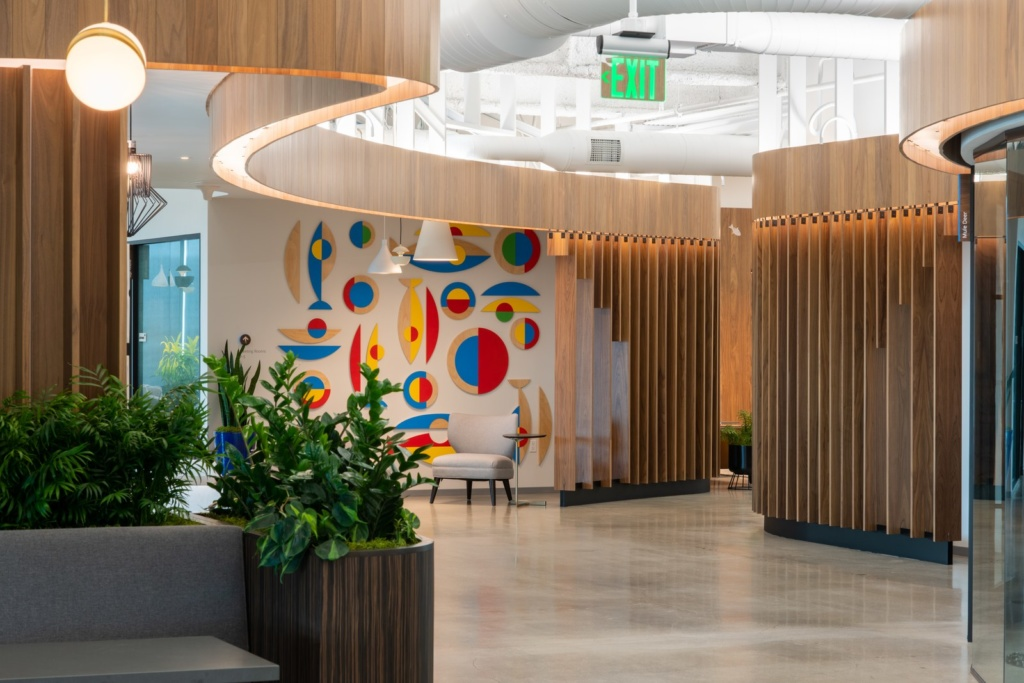 The interior of Google Pacific Shore in Redwood City, California. Source.