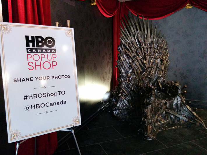 Temporary Store a tema Game of Thrones