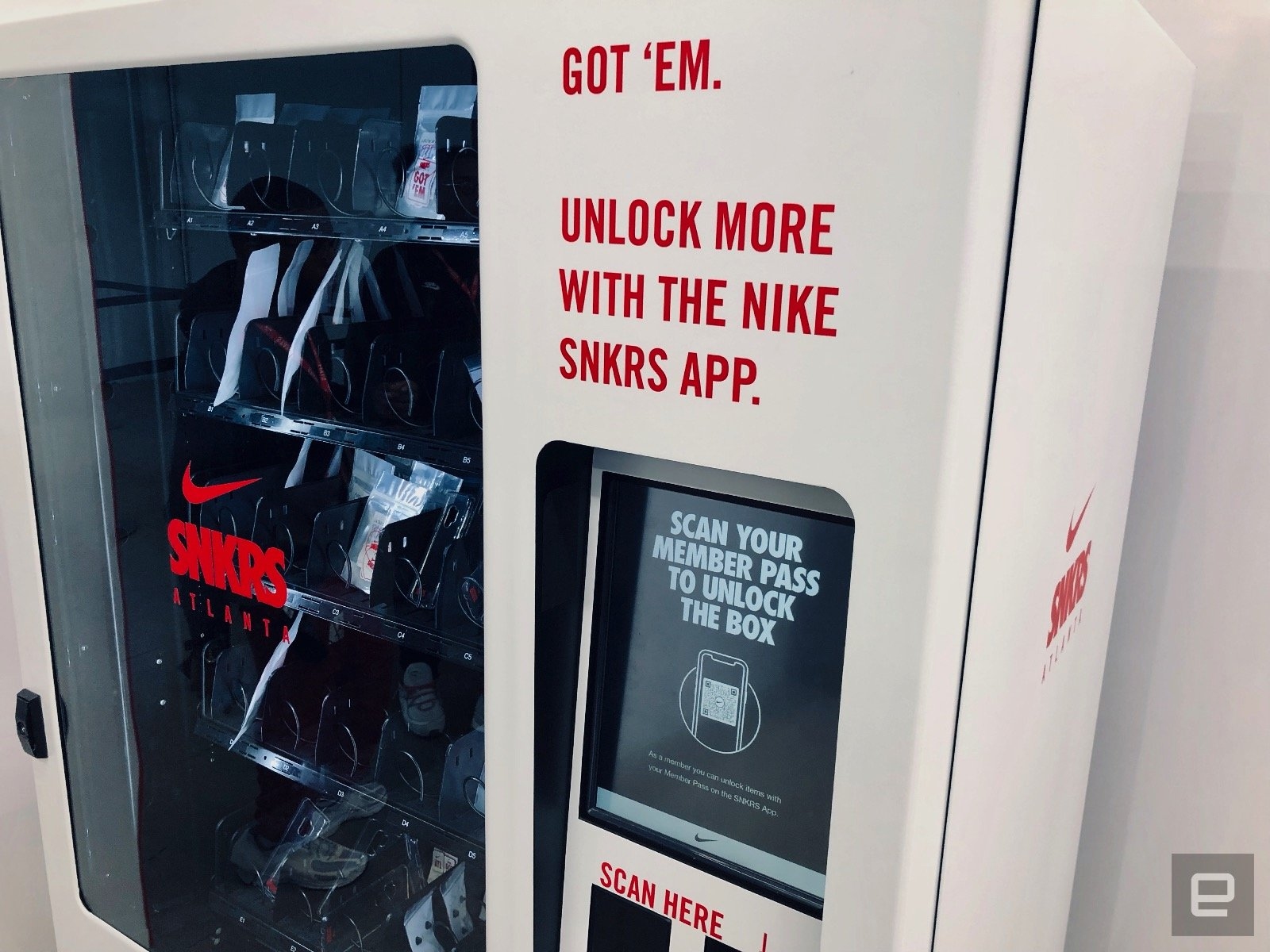 Le pop-up store SNKRS de Nike