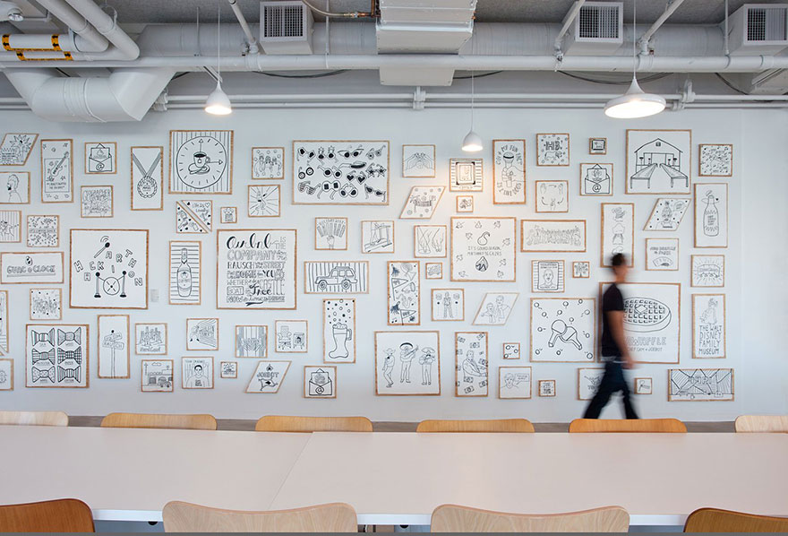 The Airbnb offices. Image credits: customspaces.com