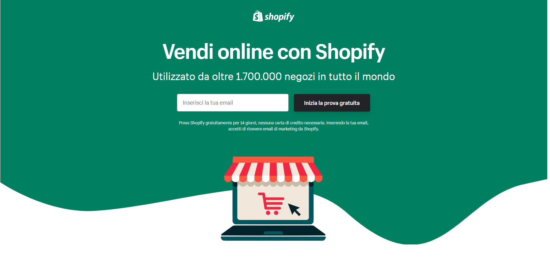 Shopify: creare siti di vendita online